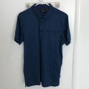 Hugo Boss Parlay Cotton Polo Shirt - Blue - M